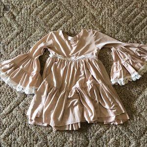 Dollcake light Pink Dress with White Crochet Trim